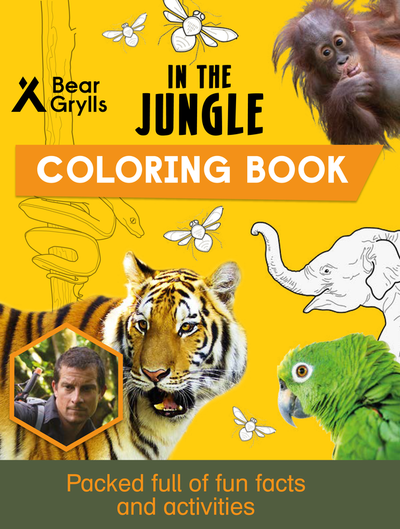 In the Jungle Coloring Book cover